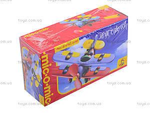 Пластиковый конструктор «Биплан», 089.005, игрушки