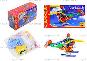 Пластиковый конструктор для детей «Вертолет», 089.006