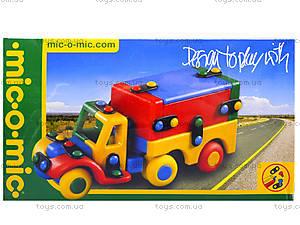 Конструктор пластиковый для детей «Тягач», 089.177, игрушки