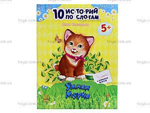 10 ис-то-рий по сло-гам «Умная мурка», с дневником, С271022Р1109, цена