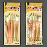 12 кисточек для рисования, в упаковке, 251  555-553