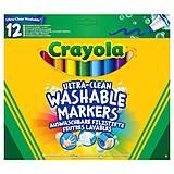 12 смываемых широких фломастеров на водной основе, Crayola (176557), 58-8329, фото