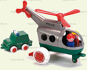 Полицейский игрушечный вертолет, детский, 1273