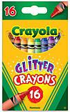 16 восковых мелков с блестками  Crayola (176562), 52-3716, фото