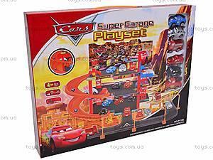 2-х этажный паркинг «Тачки», с машинками, P1199, магазин игрушек