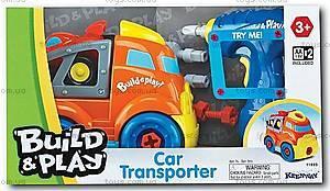 Игрушка-конструктор «Транспортер и гоночная машина», K11933