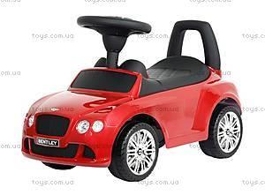 Машина-каталка Bentley лицензия, красная, U-053 R