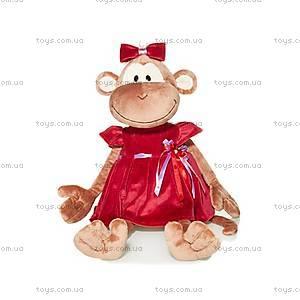 Плюшевая обезьянка «Маруся в платье», MT-TS0215013