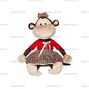 Плюшевая обезьянка «Дашенька в платье», MT-TS0215007