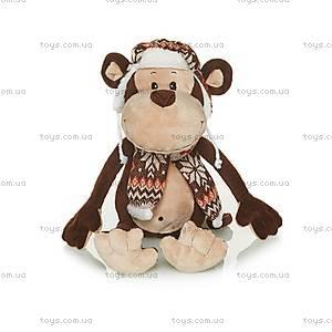 Игрушка «Обезьяна Гришка», с шарфом и шапкой, MT-TS0215034, купить