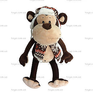 Игрушка «Обезьяна Гришка», с шарфом и шапкой, MT-TS0215034
