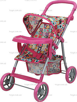Прогулочная коляска для куклы с бампером «Milana», 9366-T