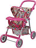 Прогулочная коляска для куклы с бампером «Milana», 9366-T, отзывы