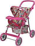 Прогулочная коляска для куклы с бампером «Milana», 9366-T, фото