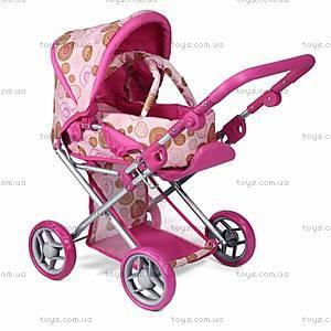 Коляска с люлькой для куклы Mary, розовая, 9346P