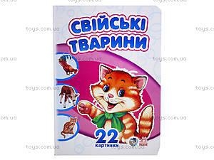 Книжка «22 картинки: Домашние животные», А231015У, цена