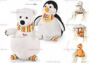 Мягкая игрушка-рукавичка «Медведь-Пингвин», 29985