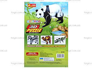 3D пазлы «Панда» 4в1, 3119, фото