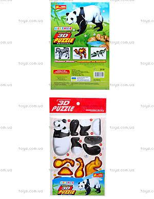 3D пазлы «Панда» 4в1, 3119