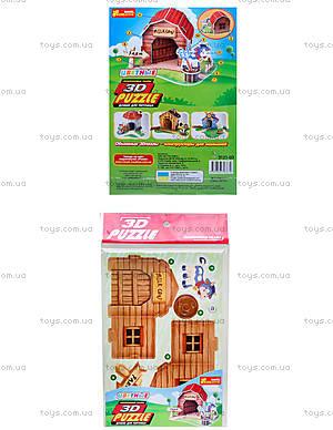 3D пазлы «Домик для питомца коровка», 3121-03