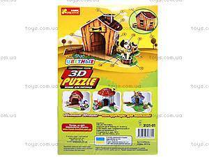 3D пазлы «Домик для питомца щенок», 3121-01, фото