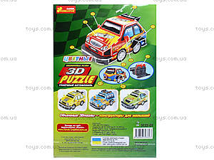 Пазлы 3D «Гоночный автомобиль 2», 3122-01, фото