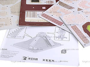 3D пазл «Пирамида Майя», 1001C, игрушки