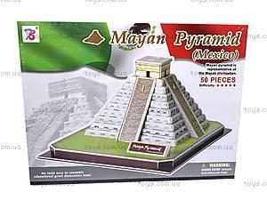 3D пазл «Пирамида Майя», 1001C, фото