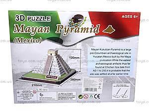 3D пазл «Пирамида Майя», 1001C, отзывы