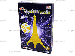 3D пазлы «Эйфелева башня», со светом, YJ6912, фото