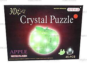 3D пазлы-кристаллы «Яблоко», 29016A, отзывы