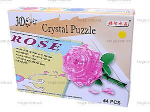 3D пазлы «Роза», 9001, фото