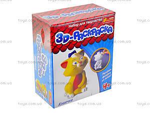 3D раскраска для детей «Кошечка», 3044-7, игрушки