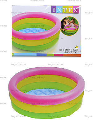 Детский бассейн с надувным дном «Рассвет», 57107