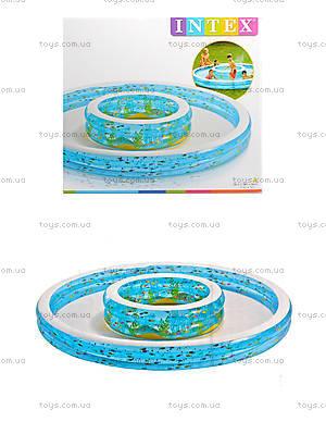 Бассейн детский двойной с фонтаном, 57143