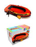 Трехместная надувная лодка с насосом и веслами, 58358, toys.com.ua