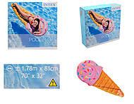 Надувной матрас «Мороженое рожок», 58757, фото