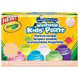 6 баночек со смываемыми красками «Неоновый цвет», 54-2391