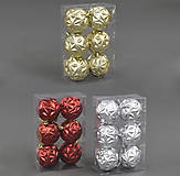 6 новогодних шариков, 3 цвета, C22138, детский