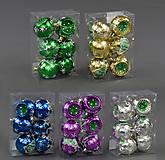 6 новогодних шариков, 5 видов, C22311, опт