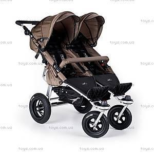 Прогулочная коляска для двойняшек Twinner Twist Duo, carbo/mud, T-TWD-030