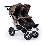 Прогулочная коляска для двойняшек Twinner Twist Duo, carbo/mud, T-TWD-030, фото
