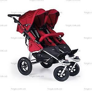 Прогулочная коляска для двойняшек Twinner Twist Duo, carbo/cranberry, T-TWD-043