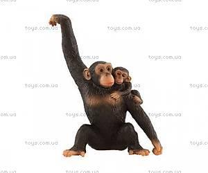 Игровая фигурка «Шимпанзе» с детенышем, 63594