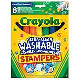 8 легко смываемых фломастеров-штампов, Crayola (176570), 58-8129
