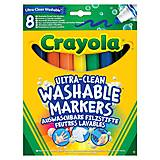 8 смываемых широких фломастеров на водной основе, Crayola (176573), 58-8328, фото