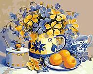 Абрикосовый натюрморт, рисование по номерам, КН2031, фото
