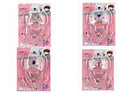 Аксессуары для девочек 4 вида (корона, колье, серьги), 2020-10111213, купить