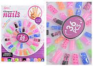 Аксессуары для девочек - накладные ногти, 36 штук, C3287, фото