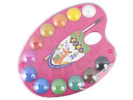 Краски акварельные на палитре, 12 цветов (розовая), ZB.6558-10, детские игрушки